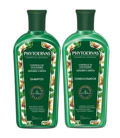 Kit Shampoo + Condicionador Phytoervas 250 ml Controle de Oleosidade