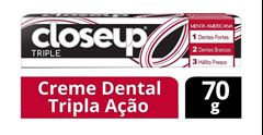Creme Dental Closeup Triple 70 gr Menta Americana