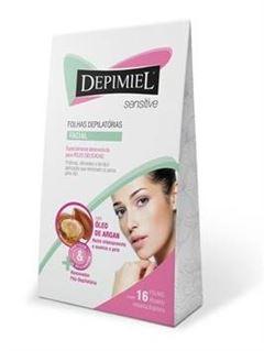 Folhas Prontas Facial Depimiel 16 unidades Sensitive