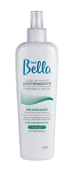 Locão de Hortelã Adstringente Depil Bella Corporal e Facial 500 ml Pre-Depilacão