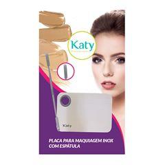 Placa para Maquiagem Katy Inox Com Espátula
