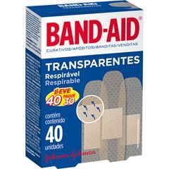 Curativos Band-Aid Transparente Leve 40 Pague 30