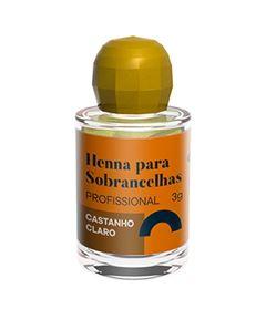 Henna Para Sobrancelha Della & Delle 3 gr Castanho Claro
