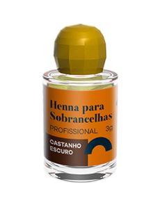 Henna Para Sobrancelha Della & Delle 3 gr Castanho Escuro