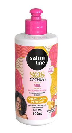 Creme Para Pentear Salon Line S.O.S CACHOS MEL 300 ml Mel e Oleo de Coco