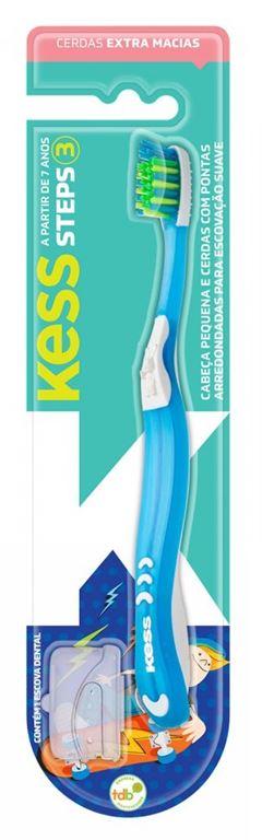 Escova Dental Kess Infantil Steps 3 Macia