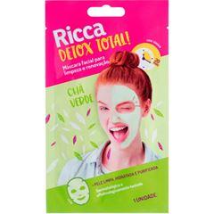 Máscara Facial Ricca para Limpeza e Renovação