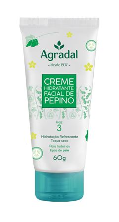 Creme Hidratante Facial Agradal 60 gr Pepino