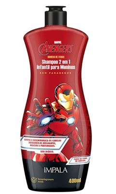 Shampoo 2 em 1 Impala Os Vingadores 400 ml Homem de ferro