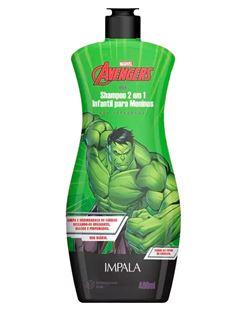 Shampoo 2 em 1 Impala Os Vingadores 400 ml Hulk