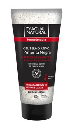 Gel Termo Ativo D Agua Natural  200 gr Pimenta Negra