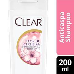 Shampoo Anticaspa Clear Women 200 ml Flor de Cerejeira