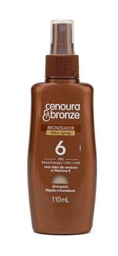 Oleo Bronzeador Cenoura & Bronze FPS 6 110 ml Spray