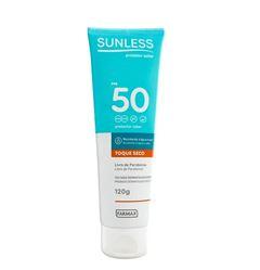 Protetor Solar Sunless FPS 50 Toque Seco 120g