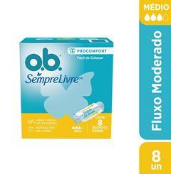 Absorvente Interno OB Pro Comfort Medio | Com 8 Unidades
