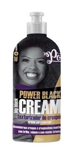 Creme para Pentear Texturizador Soul Power 500 ml Power Black