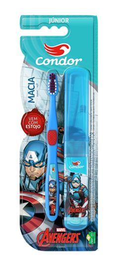Escova Dental Condor Junior Macia Avengers Cores Sortidas