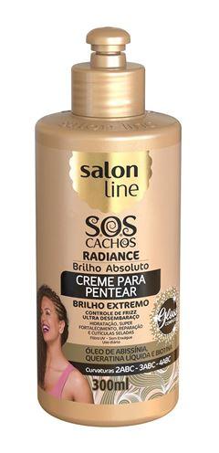 Creme para Pentear Salon Line S.O.S Cachos 300 ml Radiance Brilho Absoluto