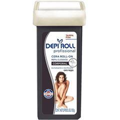 Cera Depilatória Roll On Depiroll Negra Tampa Fixa Refil 100g
