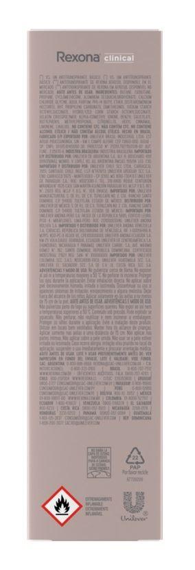Desodorante Aerosol Rexona Feminino Clinical 91 gr Extra Dry