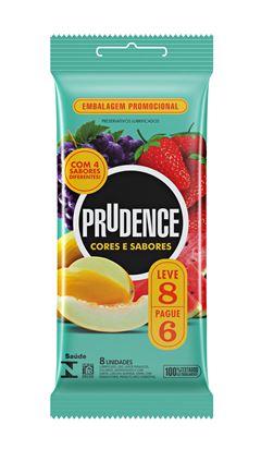 Preservativo Prudence Cores e Sabores Mix Leve 8 Pague 6