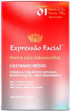 Henna Expressão Facial 2,5 gr Castanho Medio