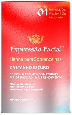 Henna Expressão Facial 2,5 gr Castanho Escuro