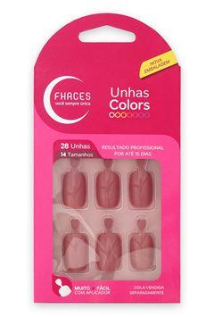 UNHAS FHACES COLORS 24 UN     ROSA FLASH