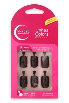 UNHAS FHACES COLORS 24 UN     MARRON