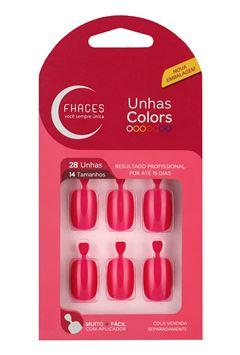 UNHAS FHACES COLORS 24 UN     ROSA PINK