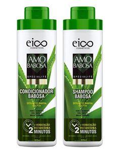 Kit Shampoo + Condicionador Eico Tratamento Profissional 800 ml Cada Amo Babosa