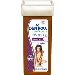 Cera Depilatoria Depi Roll Oleo de Argan Refil Tampa Fixa 100g