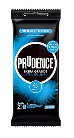 Preservativo Prudence Extra Grande Ultra Sensível 6 unidades