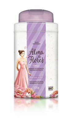 Talco Perfumado Alma de Flores 100 gr Essencia de Baunilha