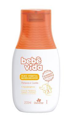 Oleo Vegetal Massageador Davene Bebe Vida 200 ml