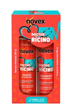 Kit Shampoo + Condicionador Novex 300 ml Doctor Rícino