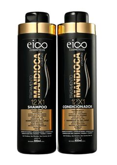 Kit Shampoo + Condicionador Eico Tratamento Profissional 800 ml Cada Mandioca