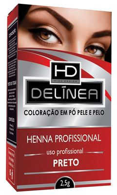 HENNA SOBRANC DELINEA 2,5GR   PRETO