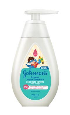 Sabonete Líquido Johnson s Baby 200 ml Limpeza Super Poderosa