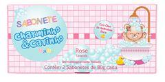 Estojo Charminho & Carinho 2 Sabonetes 80 gr Rose Lavanda
