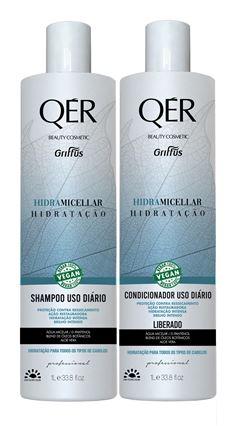 Kit Shampoo + Condicionador Griffus Qér 1 L Hidra Micellar