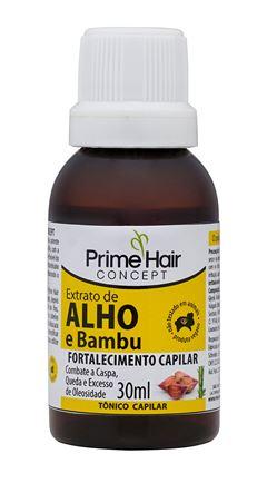 Tonico Capilar Prime Hair Concept 30 ml Extrato de Alho e Bambu