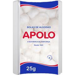 Algodão Apolo 25g em Bolas Brancas