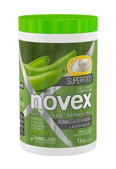 Creme de Tratamento Novex Superfood 1 Kg Biomassa de Banana & Açúcar Mascavo