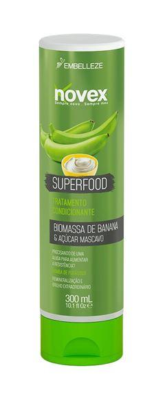 Condicionador Novex Superfood 300 ml Biomassa de Banana & Açúcar Mascavo