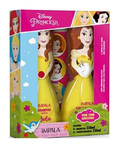 Kit Shampoo + Condicionador Impala Princesas 250 ml Bela