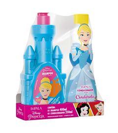 Kit Shampoo 400 ml + Condicionador 250 ml Impala Princesas Cinderela