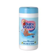 Lencos Umedecidos Baby Poppy 75 unidades Azul