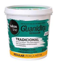 Kit Salon Line Guanidina 218 gr Regular Cabelos Textura Media ou Finos