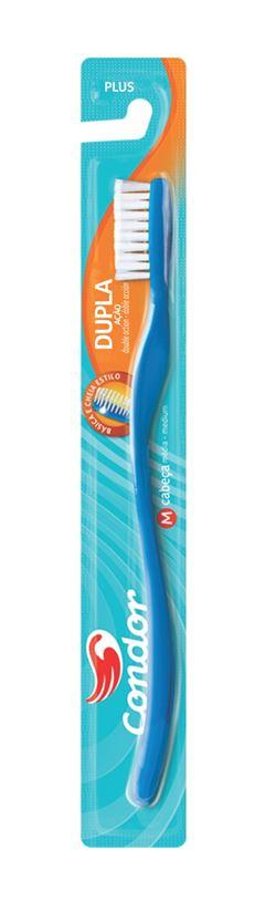 Escova Dental Condor Plus Dupla Ac?o Cores Sortidas